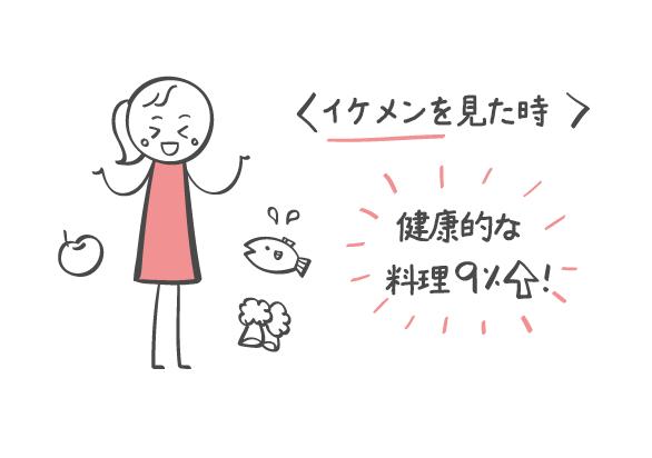イケメンとなら健康的な料理?!
