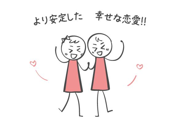 より安定した幸せな恋愛