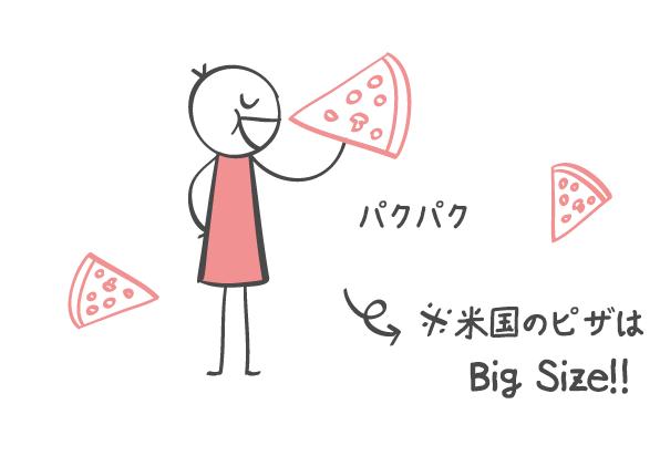 アメリカのピザ