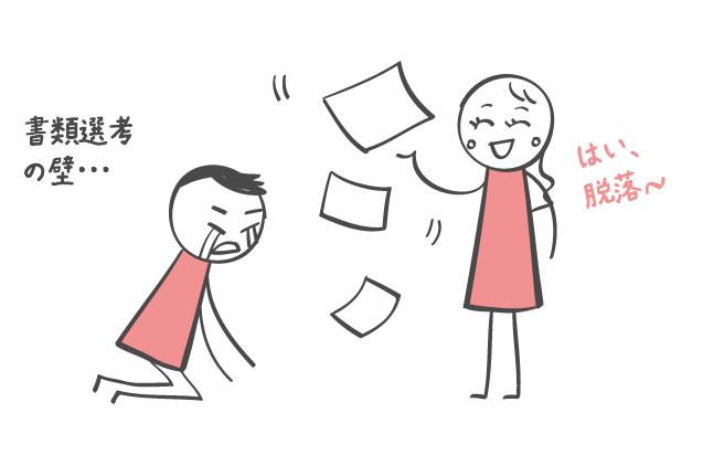 書類選考落選