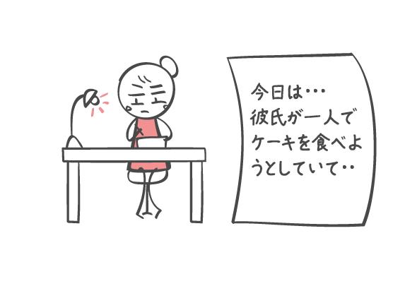 日記に不満を綴る