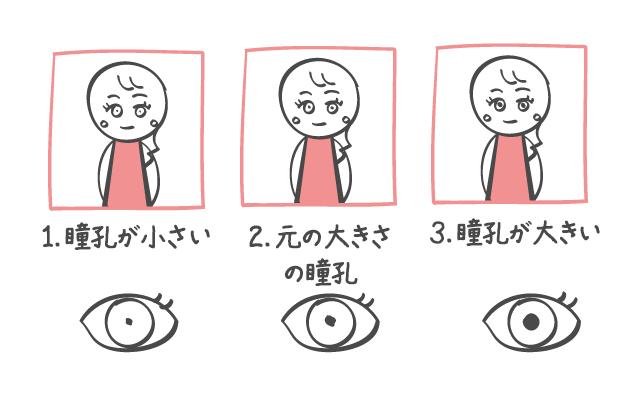瞳孔が大きい女性はモテる