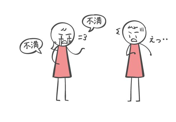 不満の伝え方