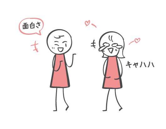 ユーモアさと恋愛