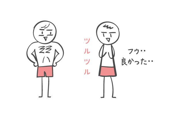 胸毛が濃い男性